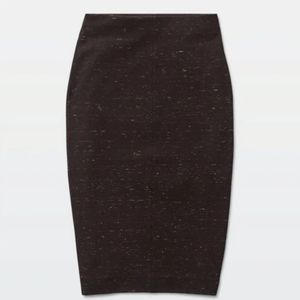 Wilfred Lis Feathered Pencil Skirt in black